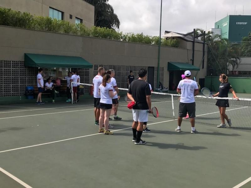 Academias com Tênis para Aulas em Grupo Ibirapuera - Academia de Tênis
