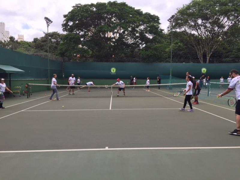 Aula de Tênis em Quadra Preço Vila Formosa - Aula de Tênis com Quadra