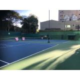 academia para tênis valores Vila Anastácio