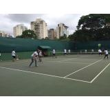 aluguel de quadra de tênis com instrutores preço Jaguaré