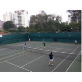 aula de tênis em dupla Belenzinho