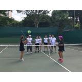 aula de tênis em grupo preço Glicério