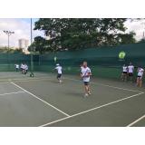 aula de tênis em grupo Vila Buarque