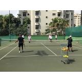 aula de tênis em quadra Perdizes