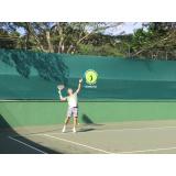 aula de tênis intermediário preço Nova Piraju