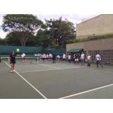 aulas de tênis em quadra Vila Romana