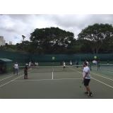 locação de quadras de tênis equipadas Rio Pequeno
