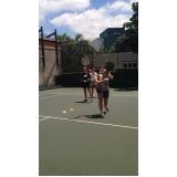 onde encontro academia com tênis para aulas em grupo Anália Franco