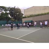 quanto custa academia para treinamento de tênis Alto de Pinheiros
