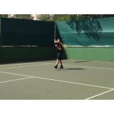 quanto custa aula de tênis avançado Bom Retiro