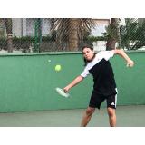 quanto custa aula de tênis individual Pompéia
