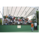 quanto custa locação de quadra de tênis para eventos Água Funda